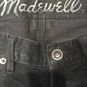 Madewell Rail Straight Blk Jeans 24 x 32